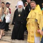 Metropolita Juvenalij e Padre Viacheslav Bachin Priore della Chiesa russa di Bari